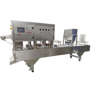 Automatic cup washing filling sealing machine for milk,yogurt,curd,instant noodles,fast food