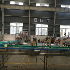 Chocolate Candy Case Packing Line-Russia Semi Automatic Case Erector+Conveyor System+Case Sealer