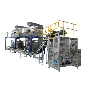 Automatic Vertical Baling Machine,Small Bags Into Big PE Bag Packing Machine