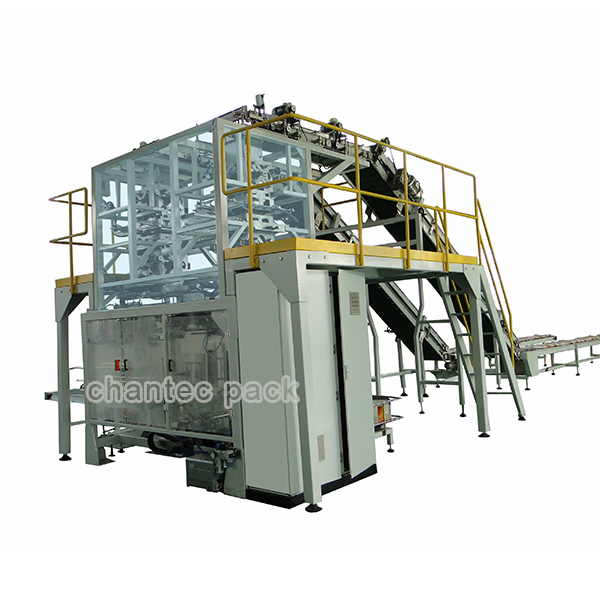 Fully Auto Small Sachets Into Big Open Mouth Woven Sacks Secondary Packaging Machine Featured Image