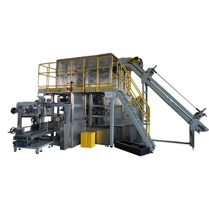 Detergent Powder Packing Machine-Small Pouches into Big Woven Bag Packing Line