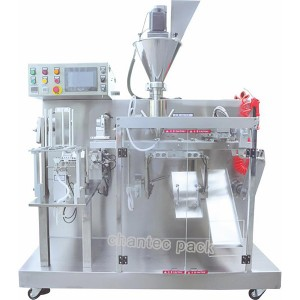 Horizontal premade irregular small pouch doypack packing filling machine