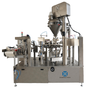 Rotary powder premade doypack packing machine