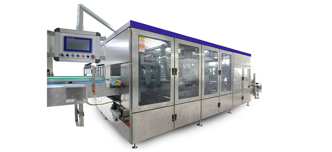 The packing process of automatic side load case packing machine