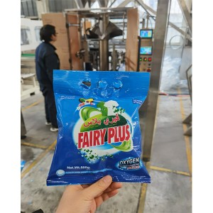 Iraq project of 500g-3kg washing powder VFFS vertical gusset bag filling packing machine