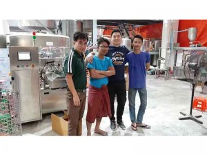 THE NEW ROTARY LIQUID PREMADE DOYPACK POUCH PACKING LINE FOR MYANMAR HAVE MADE SUCCESSFUL COMPLETION OF THE ACCEPTANCE TEST!