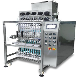 Multi lane liquid, syrup back sealing sachet bag packing machine CX-560