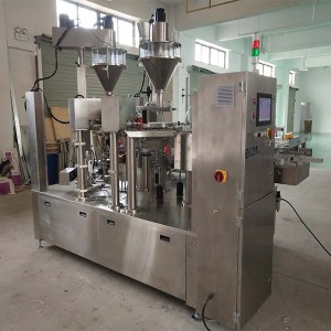 Domestic project of wheat flour powder rotary premade gusset pouch bag packaging filling machine