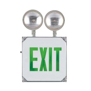 Emergency exit sign combo JECWPG