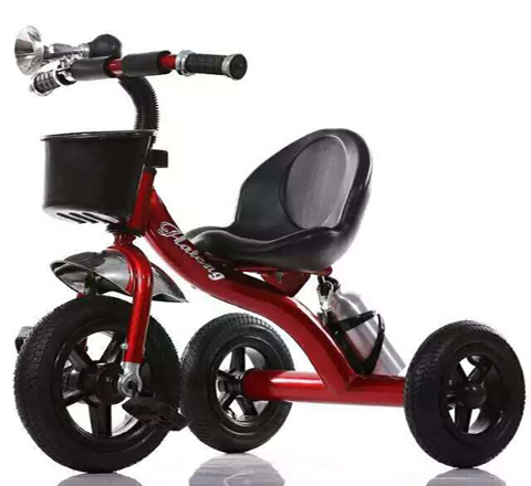 Red Black Baby Tricycle with 3 Wheels