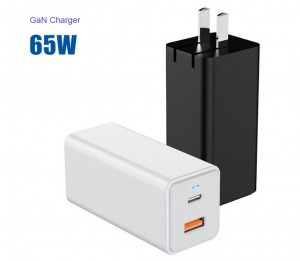 Factory Price 65W 20V3.25A USB A+C PD wall charger GaN Charger
