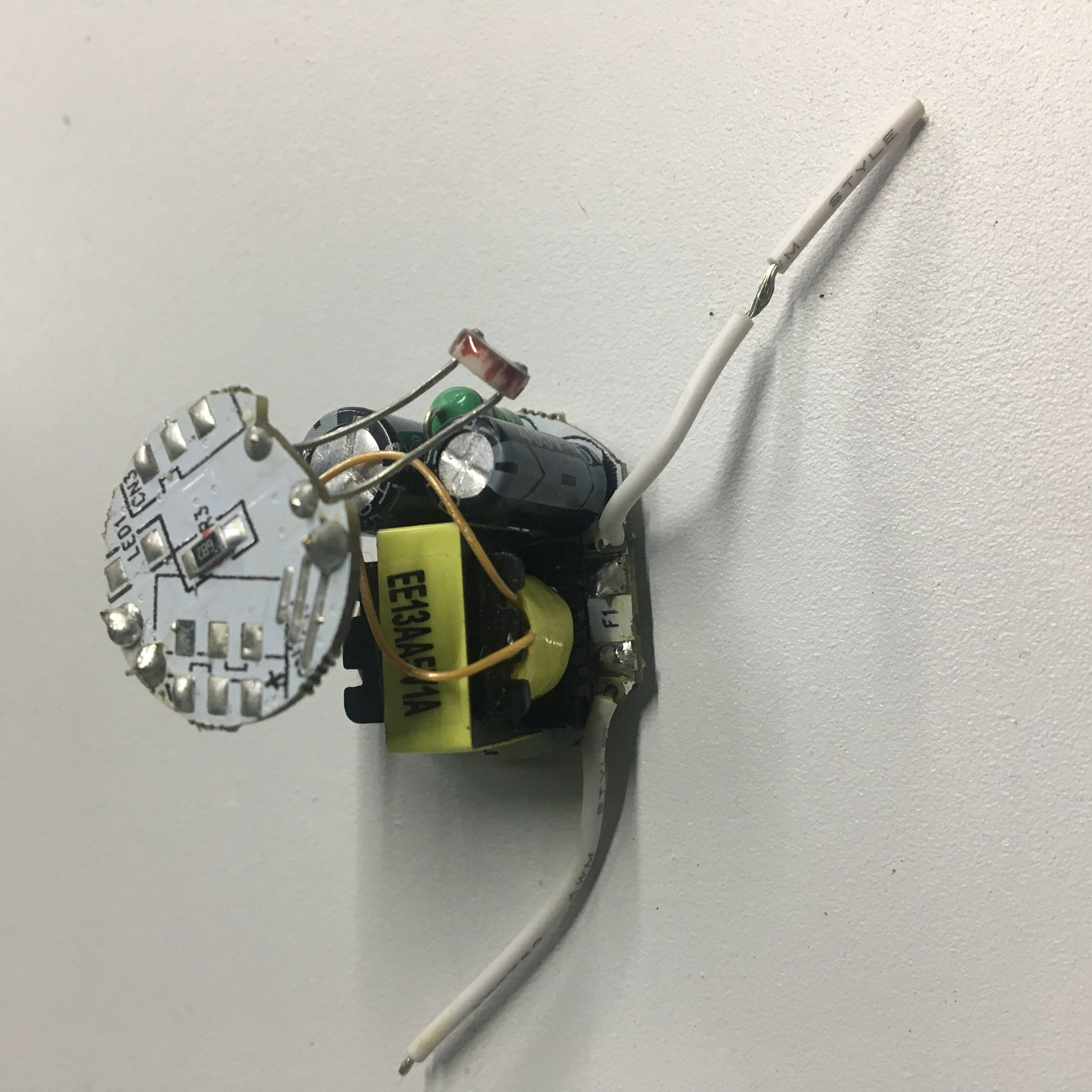 customize 5V1A small size open frame round LED driver for intelligent decorative light globe