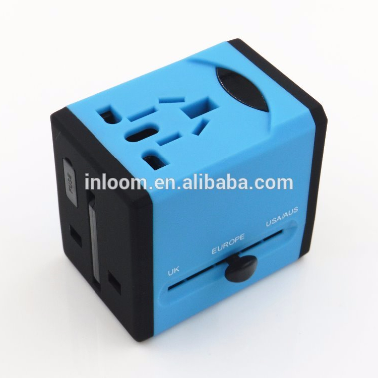 2016 patent appearance Factory Price Universal Travel Adapter with Dual USB Global Conversion Plug and Socket adaptor universal