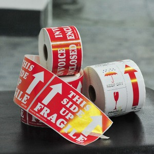 Low price for China Fragile Handle with Care Stickers Labels, Easy Peel