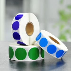 Circle color dot stickers