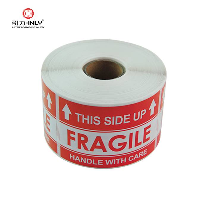 "500 labels 4""x6"" Fragile stickers rolls caution label"