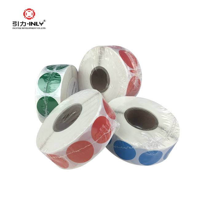 color coding label colorful stickers adhesive dot label roll