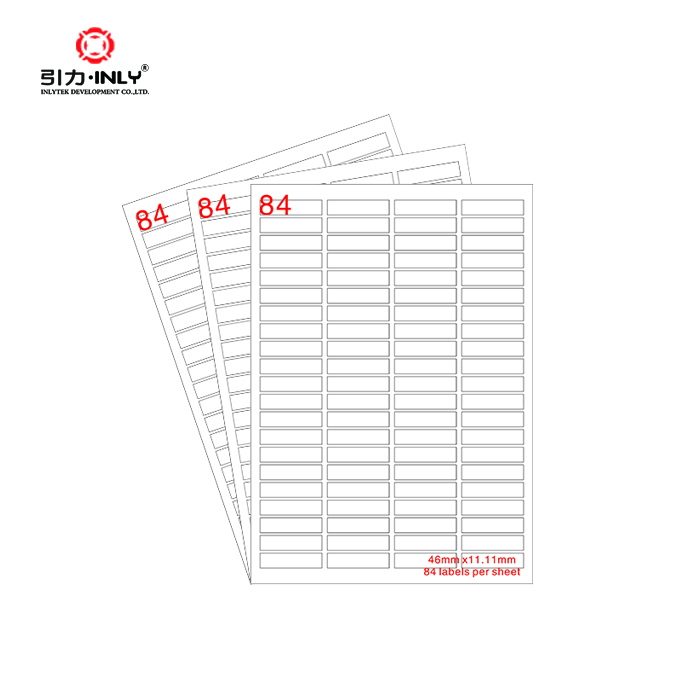 100 sheets OEM/ODM Factory supply 84 up paper label Amazon address label laser/inkjet label