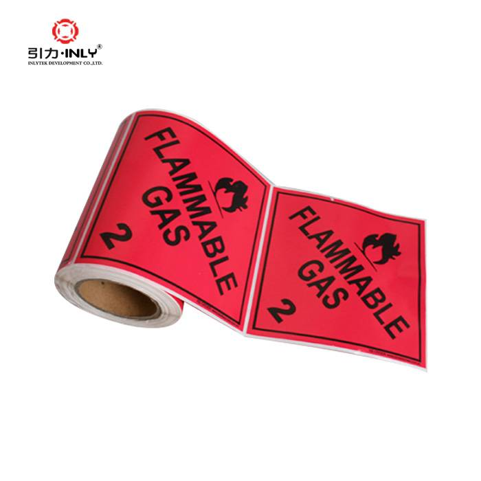 Name Sticker Fragile label FLAMMABLE GAS warning label shipping dangerous goods sticker roll