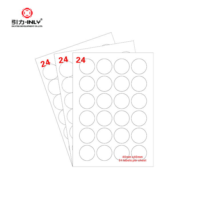 A4 24 up circle label sticker paper Laser/Inkjet Label address label