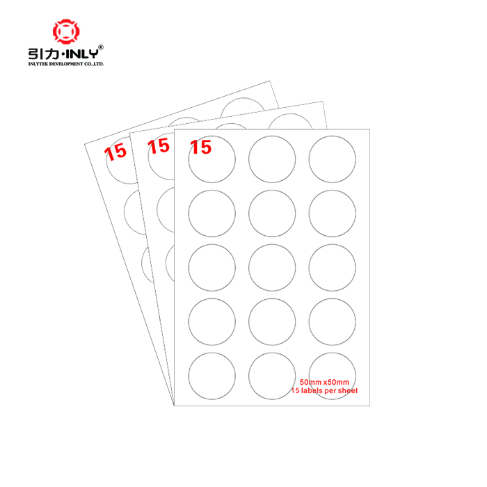 Circle Address label A4 sheet label laser/inkjet label
