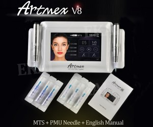 Semi permanent intelligent hand piece equipment kit skin make up pen Artmex-V8