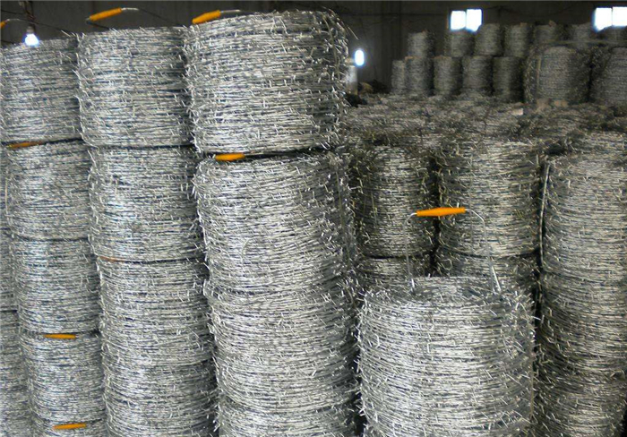 PVC Coated Barbed Wire Fence