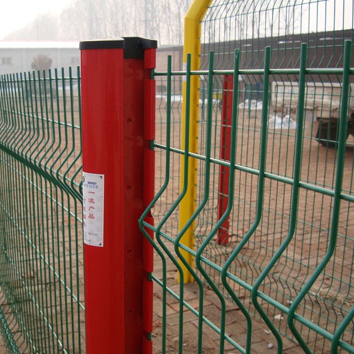 PVC Coated Green Color Welded Mesh Fence Panels