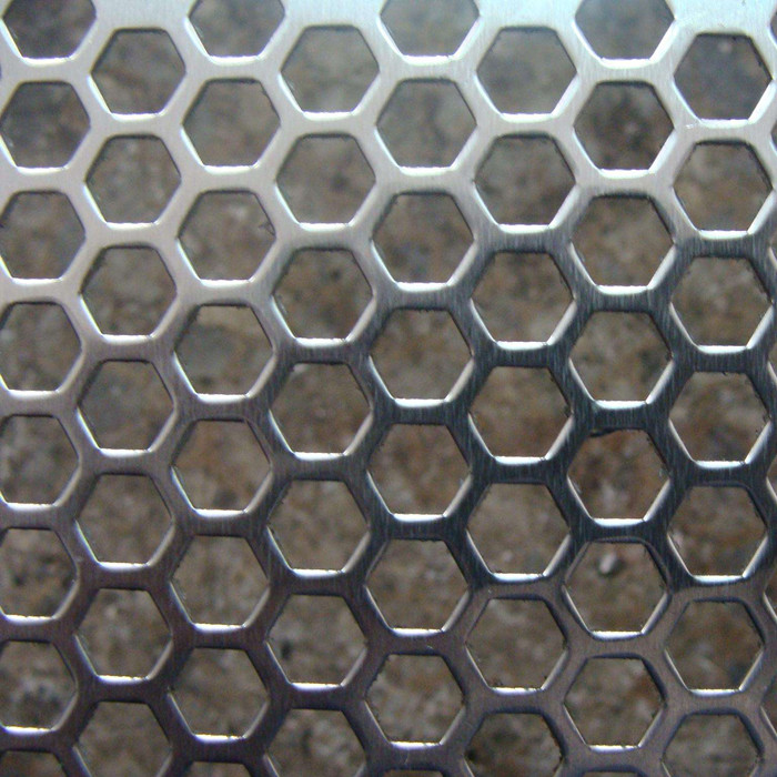 Hexagonal Hole Galvanized Perforated Metal Mesh