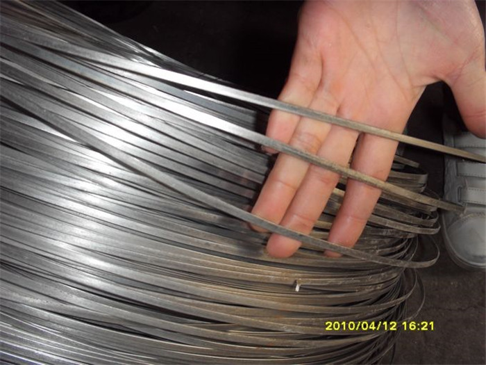 5.1mmx1.5mm enduit Wire Flat Steel