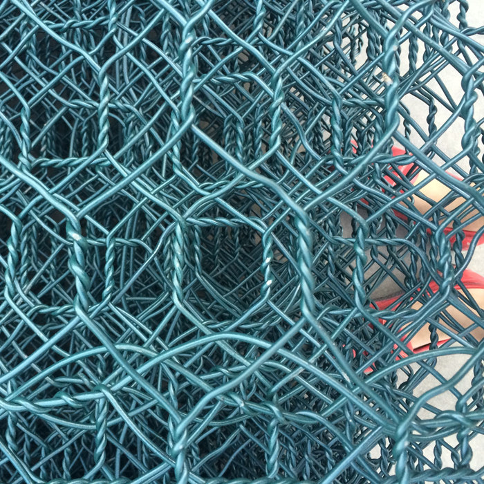 Green Color Hexagonal Hole PVC Coated Gabion Boxes
