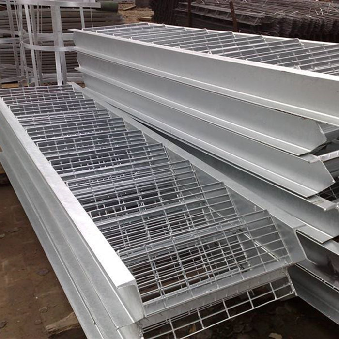 Stair kembangan Hot dipped Galvanized Steel Grid Lempeng