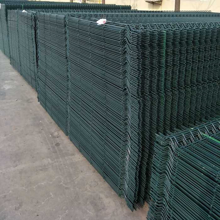 PVC Bo Green awọ welded apapo Fence Panels