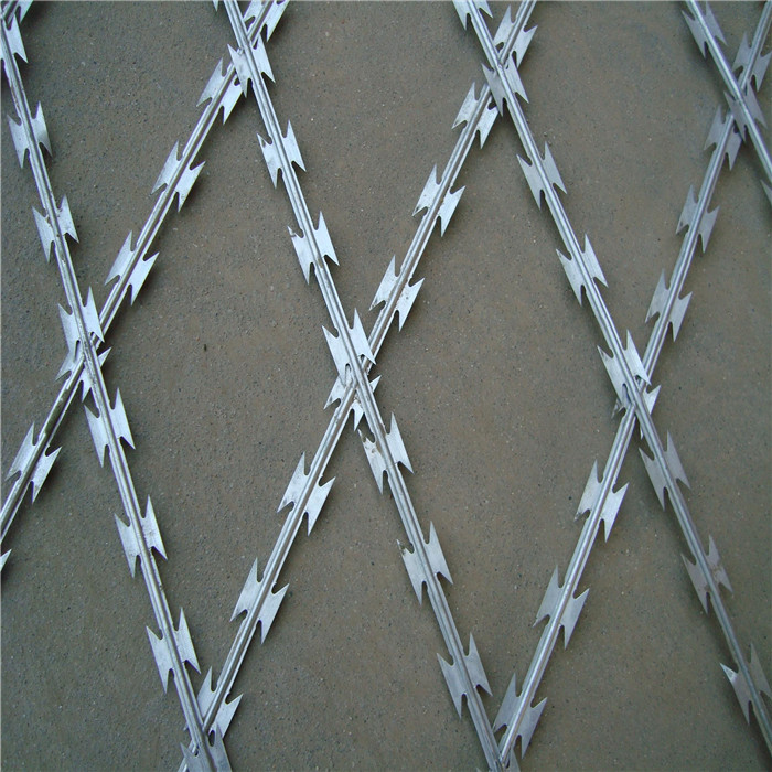 Galvanized And Plastic-sprayed Razor Wire