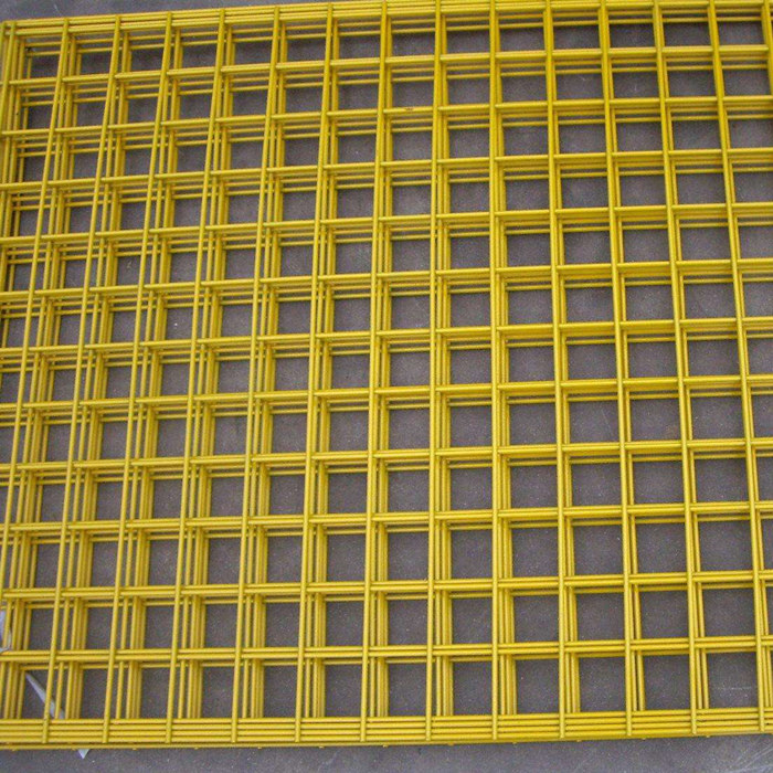 Yellow Color PVC Coated Welded Wire Mesh Panels