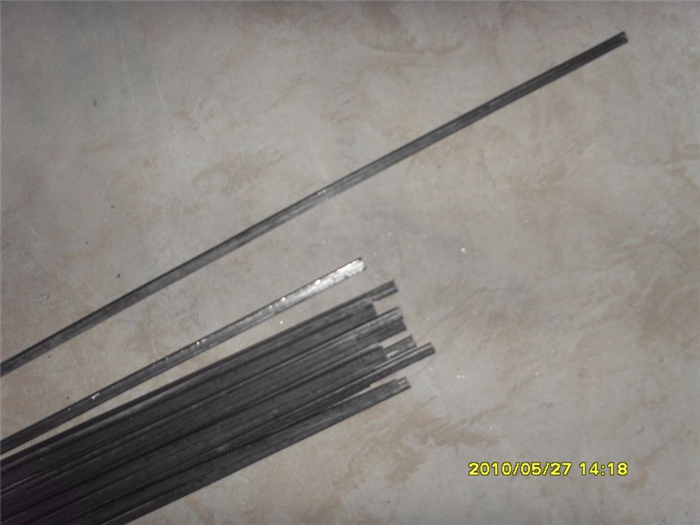 0.9MMX0.9MM Black Flat Steel Wire