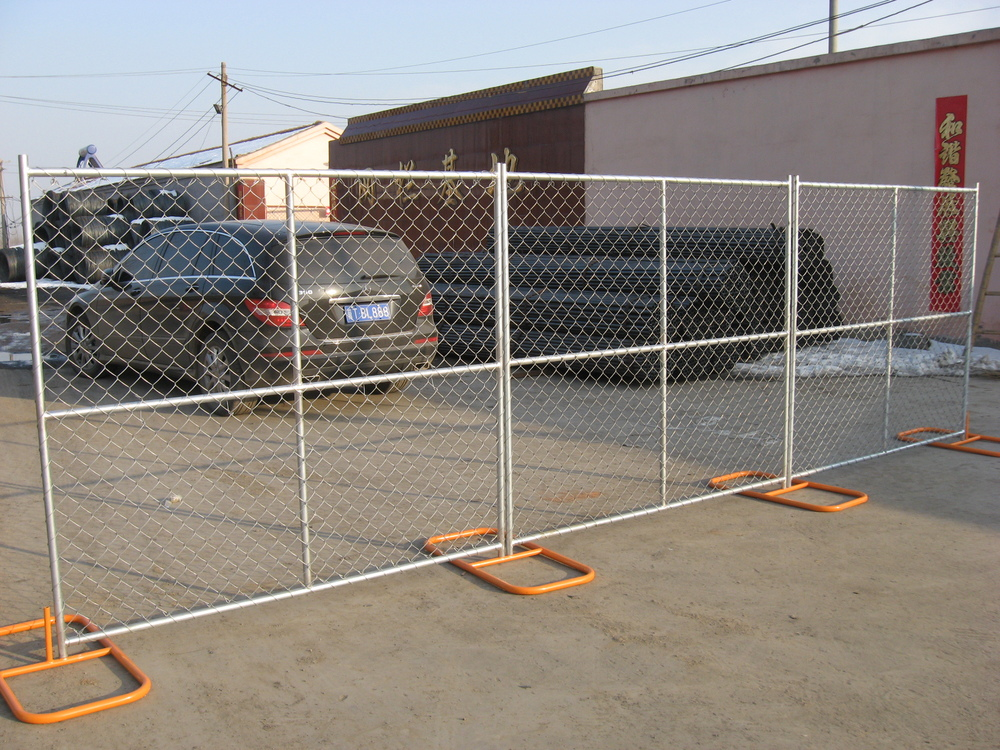 American standard temporary chain link fence panel