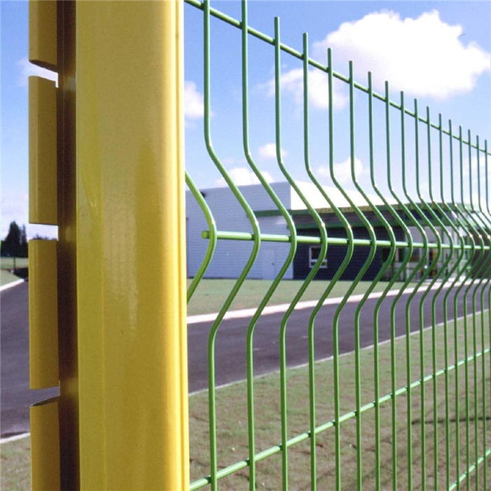 Beautiful PVC Coated Triangle Welded Wire Mesh Fence