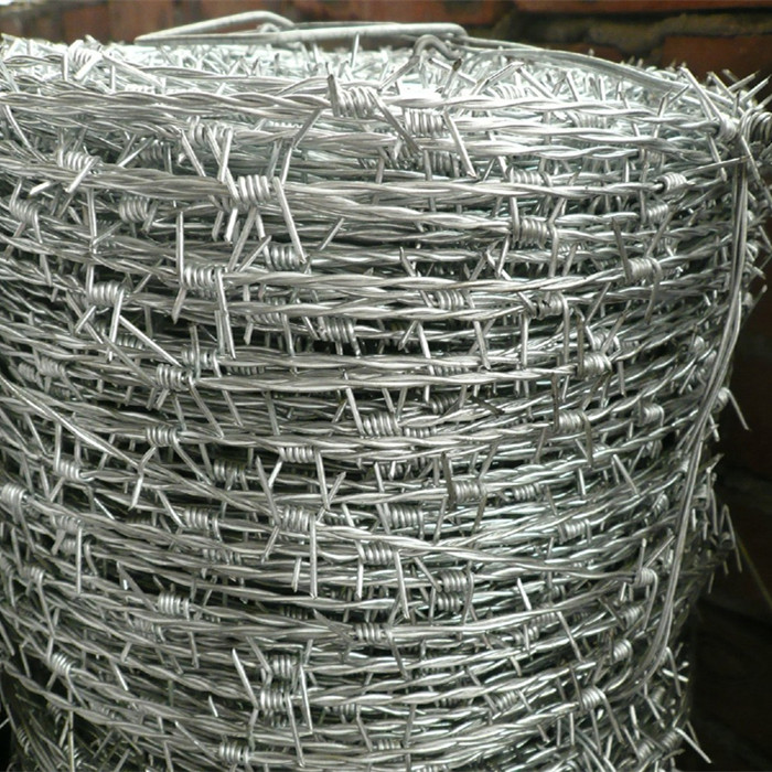 Hot-dip Galvanized fál Barbed Wire Do Slándáil