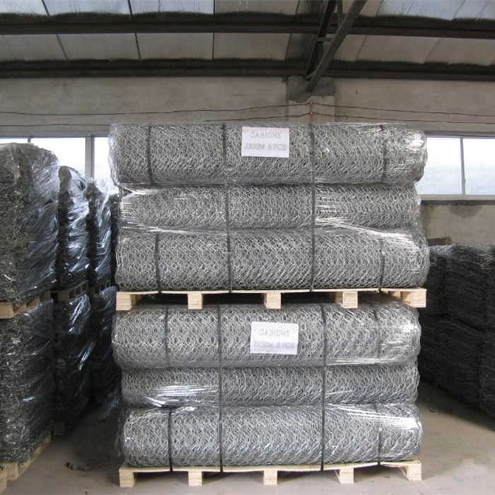 Hot-dip Galvanized Hexagonal Mesh Gabion Mattress