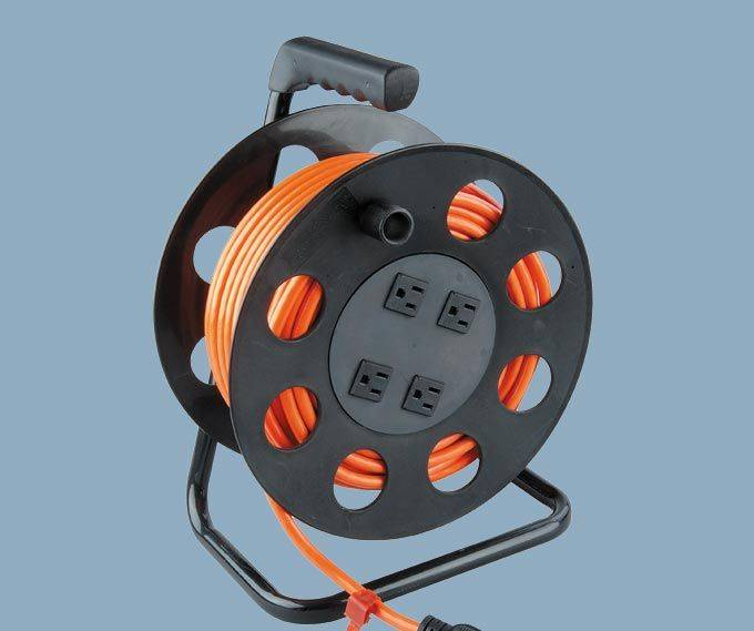 100Ft Cable Reel With 4 Outlet