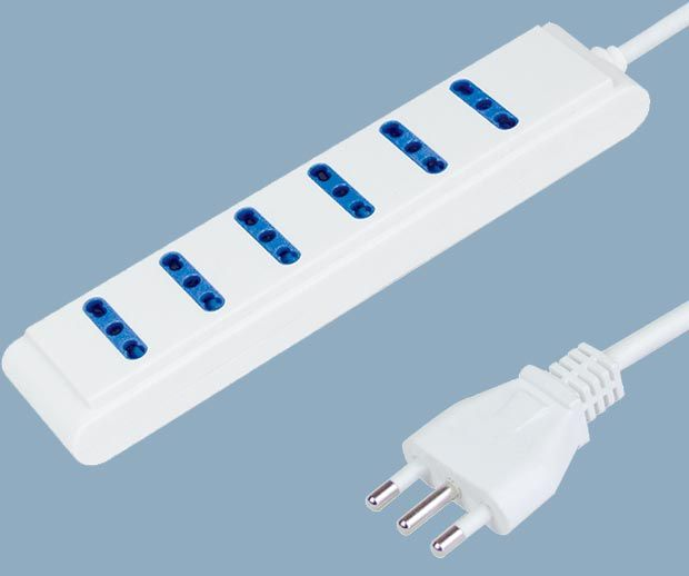Extension Socket 6 Way Power Strip