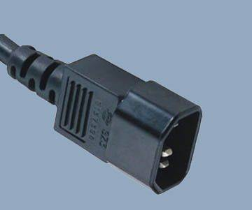 America IEC 320 C14 monitor power cord