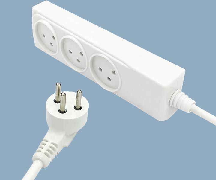 Israel Electric 3 Way Power Strips 16 Amps Extension Cord Sockets