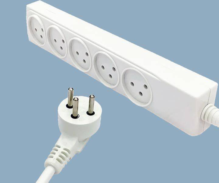 Israel Surge Protector 16A Plug Five Way Outlet Soket