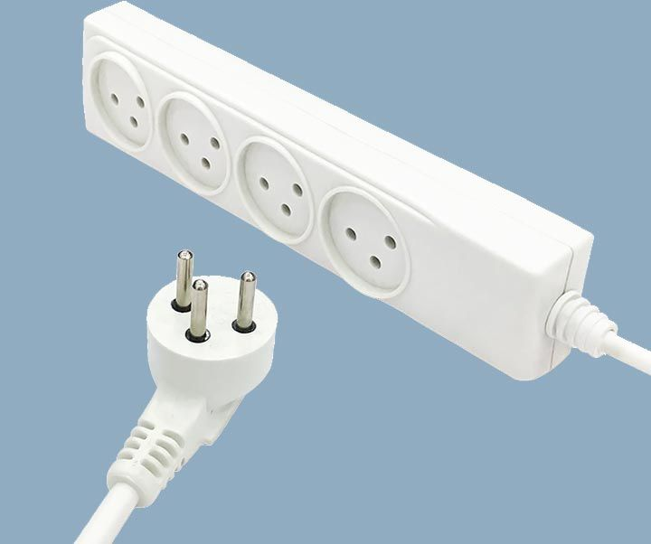 Israel Power Strip 16A Plug 4 Outlet Extension Sockets