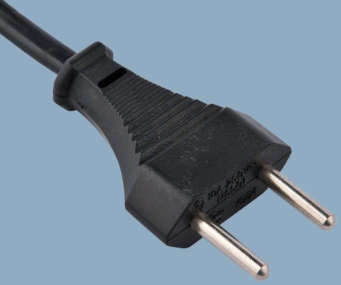 Swiss CH-type 11 Non-rewirable SEV 2-pole 10A Plug Power Cord