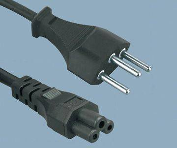 Swiss 3 Prong Plug to IEC C5 Power Cord