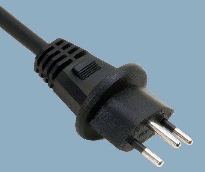Switzerland CH-type 12 SEV 1011 Waterproof Plug  Power Supply Cord