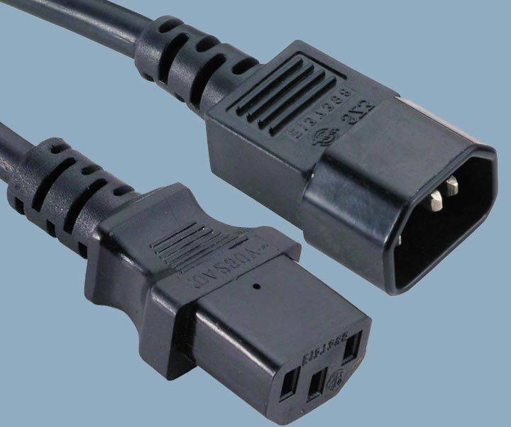 IEC 60320 C14 Plug To IEC C13 Receptacle Power Cord